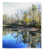 Reflections On Blue Fleece Blanket