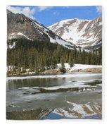 Reflections On Chinns Lake 5 Fleece Blanket
