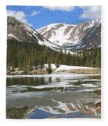 Reflections On Chinns Lake 6 Fleece Blanket