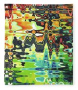 Reflections On Color Fleece Blanket