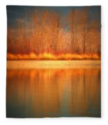 Reflections On Fire Fleece Blanket