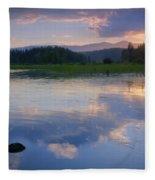 Reflections On Mica Bay Fleece Blanket