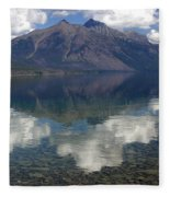 Reflections On The Lake Fleece Blanket