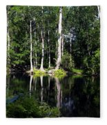 Reflections On The Ocklawaha River  Fleece Blanket