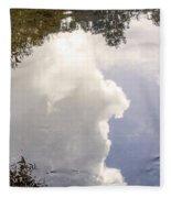 Reflections On The Water Fleece Blanket