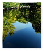 Reflections Trees Fleece Blanket