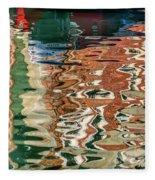 Reflections Venice_dsc4687_03032017 Fleece Blanket