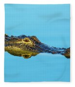 Reflective Gator Fleece Blanket
