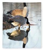 Reflective Geese Fleece Blanket
