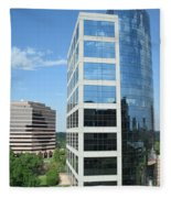 Reflective Mirror Architecture Fleece Blanket
