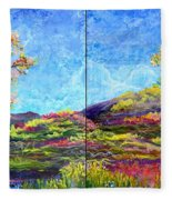 Refresh And Renew As A Diptych Orientation 1 Fleece Blanket