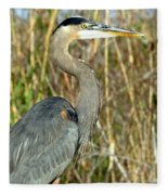 Regal Heron Fleece Blanket