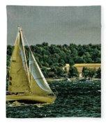 Regatta On Seneca Lake Fleece Blanket