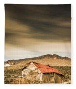 Regional Ranch Ruins Fleece Blanket