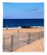 Rehoboth Beach Panorama Fleece Blanket