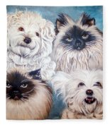 Reigning Cats N Dogs Fleece Blanket