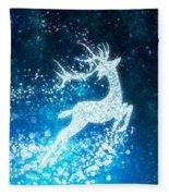 Reindeer Stars Fleece Blanket