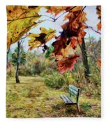 Relax And Watch The Leaves Turn Fleece Blanket