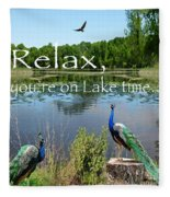 Relax Lake Time-jp2737 Fleece Blanket