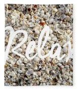 Relax Seashell Background Fleece Blanket