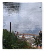 Relaxing By The Lake Fleece Blanket