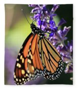 Relaxing Monarch Butterfly Fleece Blanket