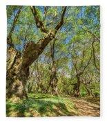 Relaxing Planes Trees Arbor Fleece Blanket