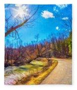 Reluctant Ontario Spring 3 - Paint Fleece Blanket