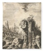 Remains Of The Temple Of Castor And Pollux Fleece Blanket