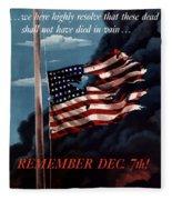 Remember December Seventh Fleece Blanket