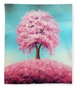 Remember The Bloom Fleece Blanket