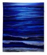 Remembering The Waves Fleece Blanket
