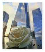 Remembering With A Rose Fleece Blanket