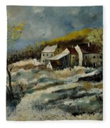 Remote Houses In The Ardennes  Fleece Blanket