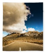 Remote Rural Roads Fleece Blanket