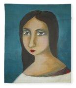 Renaissance Girl Fleece Blanket
