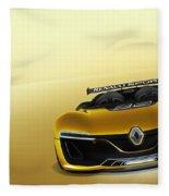 Renault Sport Spider 4k Fleece Blanket
