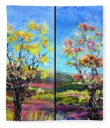 Renew And Refresh Diptych Orientation 2 Fleece Blanket
