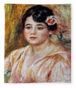 Renoir: Adele Besson, 1918 Fleece Blanket