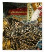 Renoir: Odalisque, 1870 Fleece Blanket