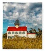 Renovated East Point Lighthouse Fleece Blanket