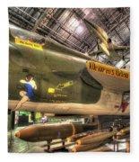 Republic F-105 Thunderchief Fleece Blanket