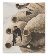 Republican Or Cliff Swallow Fleece Blanket