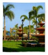 Resort Fountains Fleece Blanket