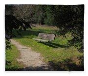 Rest Along The Path Fleece Blanket