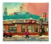 Restaurant Greenspot Deli Hotdogs Fleece Blanket