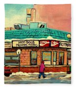 Restaurant Greenspot Deli Hotdogs Fleece Blanket