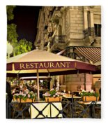 Restaurant In Budapest Fleece Blanket