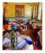 Restaurant In Red Bank 2 Fleece Blanket