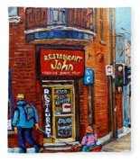 Restaurant John Montreal Fleece Blanket